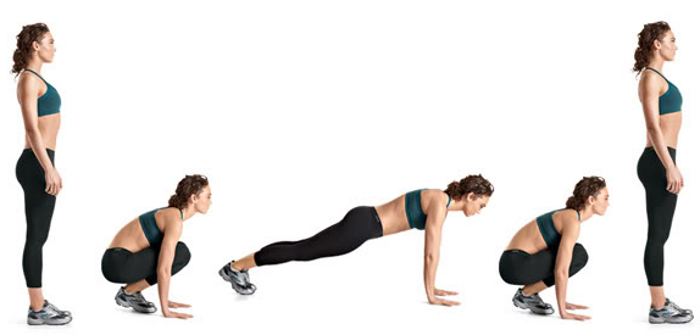 Burpees - Full Bodyweight lifts