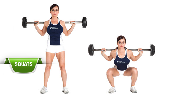 Compound Lifts - BARBELL SQUATS